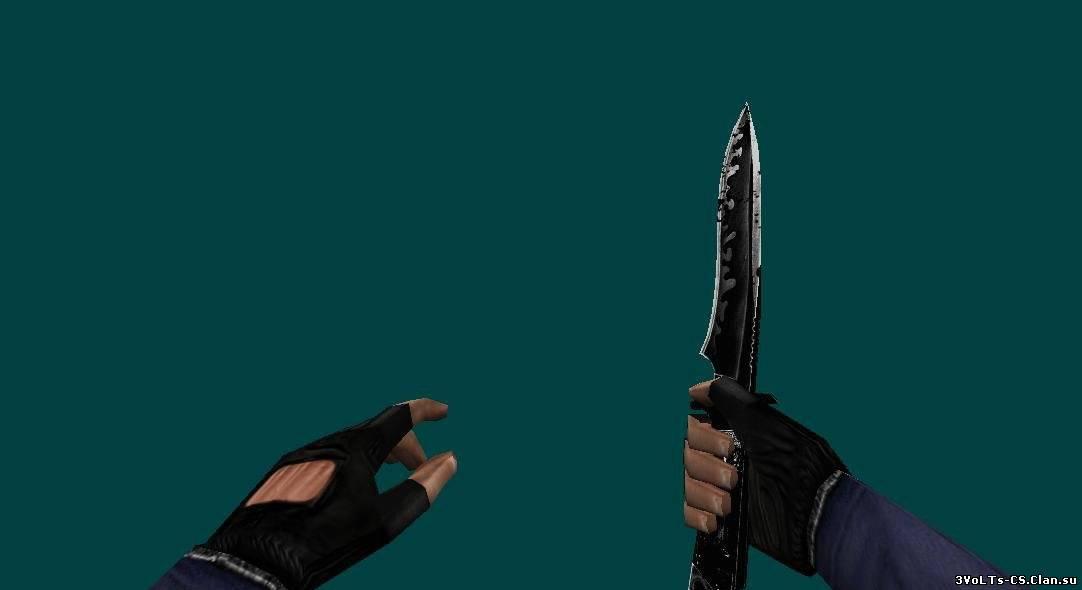 Как нож сделать в левую руку в кс 1.6